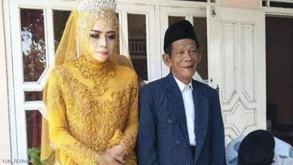 السن ليس مهما .. زوجان يعقدان قرانهما بفارق سن 56 عاما