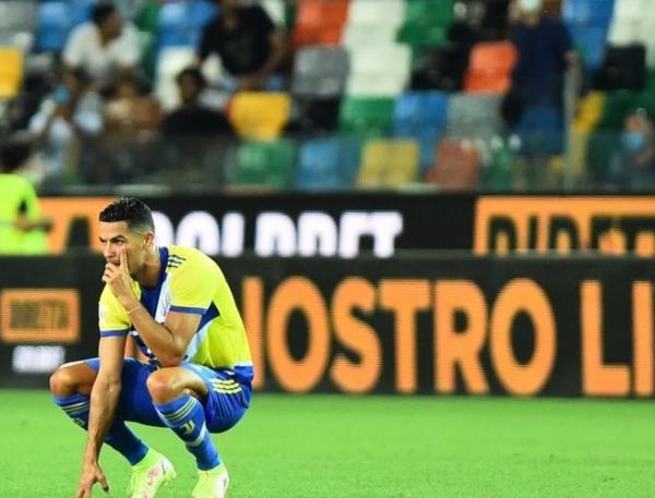 مفاجأة .. رونالدو يطلب الجلوس على مقاعد البدلاء ويوفنتوس يضيع الفوز أمام أودينيزي