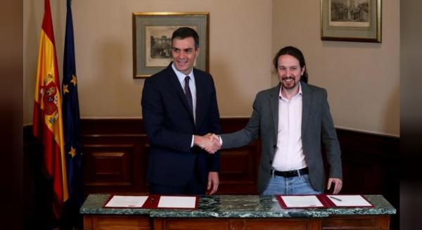 """إسبانيا: الحزب الاشتراكي يوقع اتفاقا مع """"بوديموس"""" لتشكيل حكومة """"تقدمية"""""""
