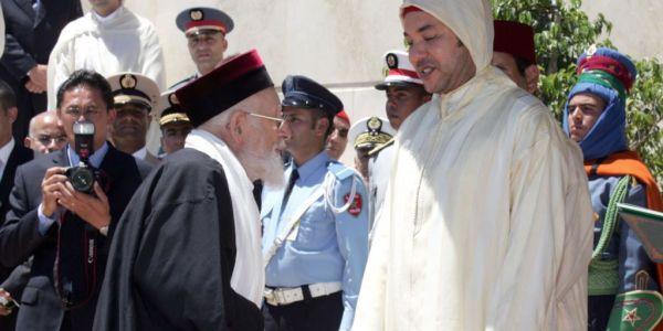 الملك يعزي عائلة الحاخام الأكبر للطائفة اليهودية بالمغرب الذي توفى باسرائيل