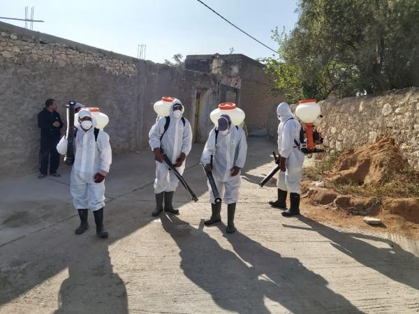 عملية واسعة للتعقيم والتطهير ضد فيروس كورونا تشمل كل قرى ودواوير اليوسفية (فيديو)