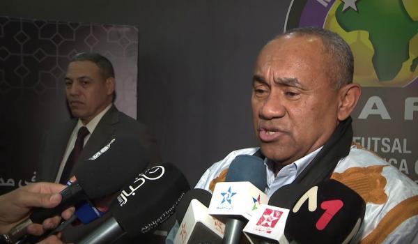 رئيس الاتحاد الإفريقي لكرة القدم يحل بالعيون (فيديو)
