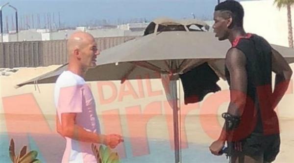زيدان يلتقي بوغبا في دبي