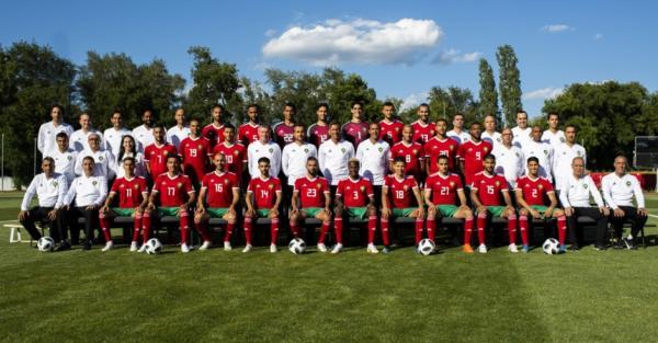 """مونديال 2018: المنتخب المغربي يلتقط صورته الرسمية"""""""