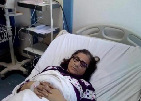 الفنانة المغربية زهور السليماني في العناية المُركزة  بالمستشفى العسكري