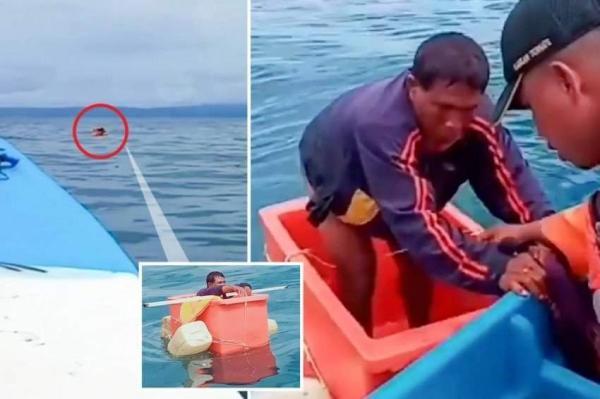 صندوق ثلج ينقذ صياداً قضى 3 أيام في عرض البحر