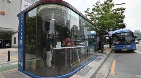كوريا الجنوبية  تطور محطات حافلات متقدمة تكنولوجياً لمكافحة كورونا