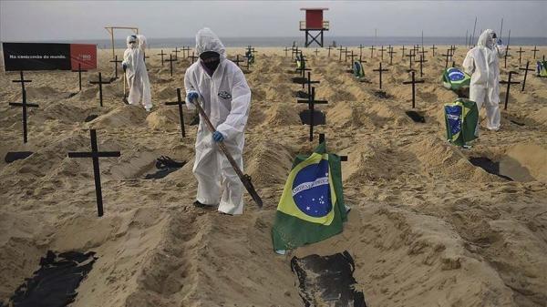 البرازيل تسجل 15239 إصابة و570 وفاة جديدة بكورونا