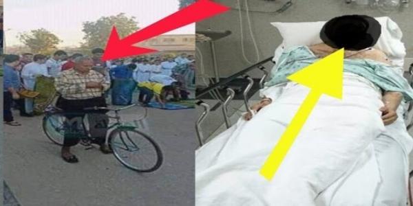 حقيقة وفاة صاحب واقعة الصلاة على الدراجة في العيد جراء السخرية اللاذعة منه