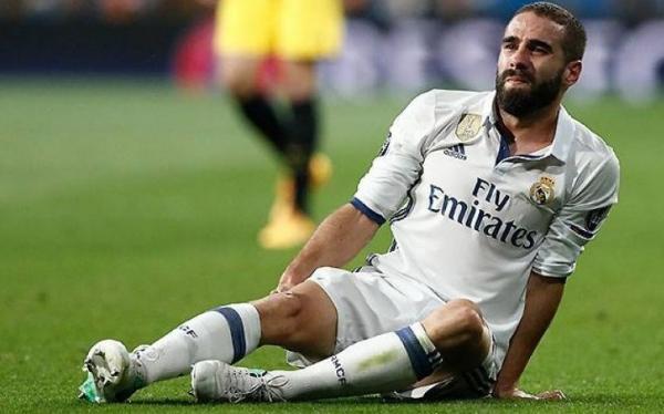 ضربة أخرى لزيدان.. ريال مدريد يعلن إصابة كارفاخال مجددا