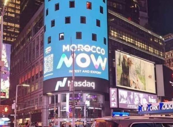 """بالصورة .. """"Morocco Now"""" تتألق في أشهر ساحة بنيويورك"""