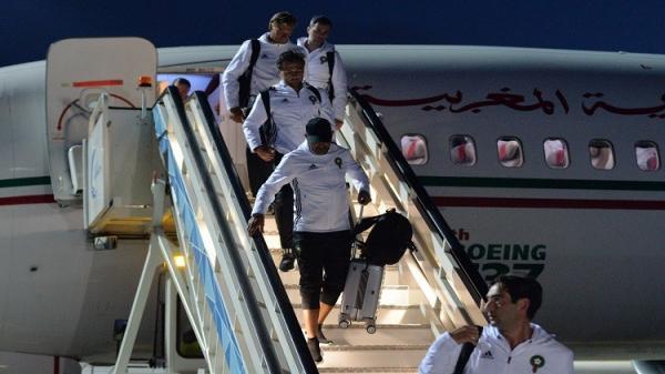 بالصور و الفيديو .. لحظة وصول المنتخب المغربي الى الأراضي الروسية