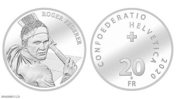 الحكومة السويسرية ستضع صورة روجر فيدرر على عملة فضية بقيمة 20 فرنك