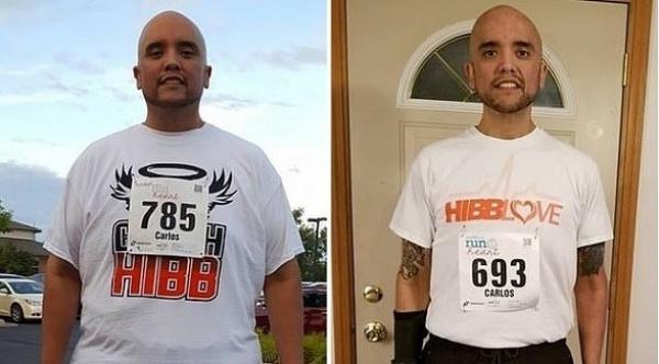 يتمكن من فقدان 200 كيلوغرام من وزنه بفضل الجري