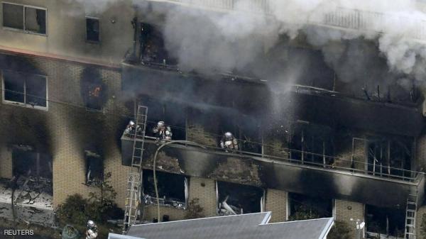 ارتفاع حصيلة ضحايا حريق استوديو للرسوم المتحركة باليابان إلى 33 قتيلا