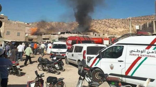 ألسنة النيران تلتهم حماما شعبيا بالكامل نواحي أكادير وغموض يلف الخسائر البشرية