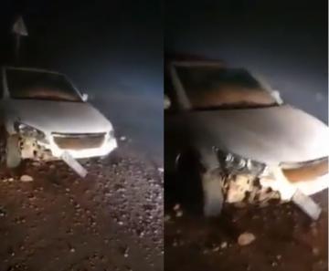 خسائر مادية بسيارة وإصابة السائق في حادثة سير نواحي الدريوش