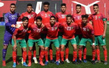 كأس العرب لأقل من 20 سنة .. فوز ساحق للمنتخب المغربي على نظيره الجيبوتي
