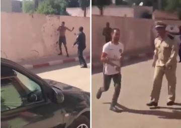 الشرطة تطلق النار على مجرم خطير بمدينة بن سليمان