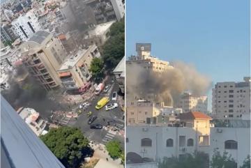 إسرائيل تدمر الأبراج في غزة بضربات صاروخية