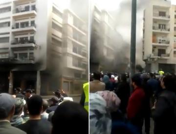 حريق مهول يلتهم محلا لبيع الدراجات النارية في شارع الحسن الثاني ديور الجامع بالرباط