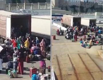 ميناء طريفة: شاهد الظروف المزرية لنقل النساء العاملات بالحقول الإسبانية