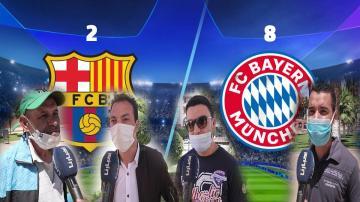 الجمهور المغربي يعلق على الخسارة المذلة لبرشلونة أمام بايرن ميونخ بـ8-2