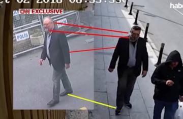 فيديو جديد يظهر شبيها لخاشجقي يرتدي ملابسه ويخرج من القنصلية للتمويه