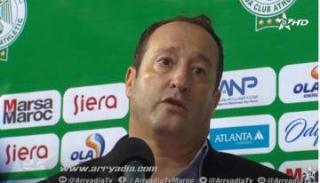 تصريح بيدرو بنعلي مدرب إتحاد طنجة عقب الفوز على الرجاء