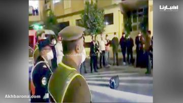 """دعاء مؤثر بحضور رجال الأمن الوطني والقوات المساعدة والمواطنين يرددون """"أمين"""""""