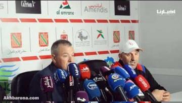 الندوة الصحفية لمباراة المغرب التطواني وإتحاد طنجة