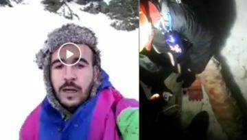 فيديو آخر للشابين العالقين بجبل تذغين يبرز الإصابة الظاهرة على أحدهما!