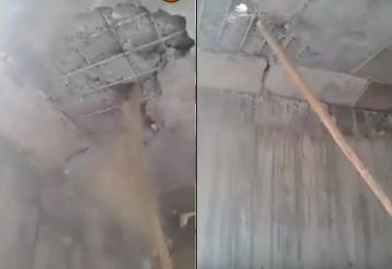 مواطنون يفضحون قنطرة مغشوشة بقرية أيت مرزوك في إقليم ميدلت