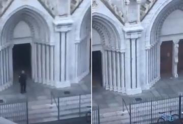 شاهد .. لحظة اقتحام الشرطة الفرنسية كنيسة نوتردام في نيس مكان عملية الطعن
