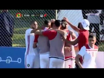 بالفيديو: أهداف مبارة جزر القمر و المغرب 2-2
