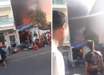 اندلاع حريق مهول بدكان لبيع الخضر بتطوان