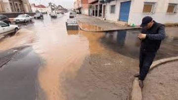 أمطار الخير تعري البنية التحتية الحديثة بالناظور