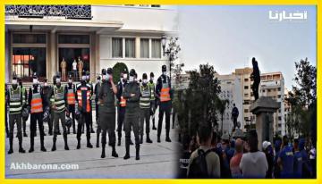 جماهير اتحاد طنجة في وقفة احتجاجية رغم إستقالة المكتب المسير للفريق