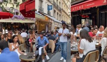شاهد عودة الحياة لفرنسا وفتح المقاهي والمطاعم بدون تباعد اجتماعي ولا كمامات