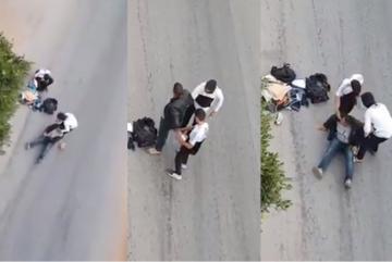 كريساج و اعتداء في واضح النهار على شخص من طرف جانحين بحي ليساسفة البيضاء.
