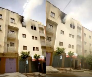 اندلاع حريق بإحدى الشقق بحي المنصور مكناس والسبب.. شارجور