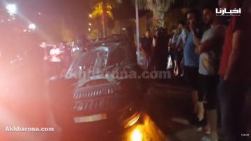 وجدة: انقلاب سيارة أمام الحي الجامعي ونقل المصابين على وجه السرعة للمستشفى لتلقي العلاجات الضرورية