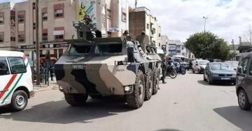 القوات المسلحة في طريقها إلى مدينة طنجة لمواجهة تفشي وباء كورونا