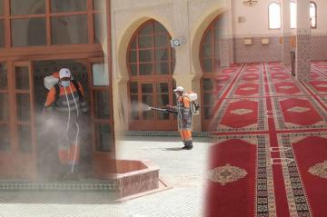 قبل يوم من إعادة فتحها: هكذا تتم الاستعدادات داخل المساجد، عملية التعقيم، مسافات التباعد