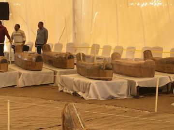 كشف أثري كبير بمصر يضم 30 تابوتا خشبيا يزيد عمرها عن 3000 سنة