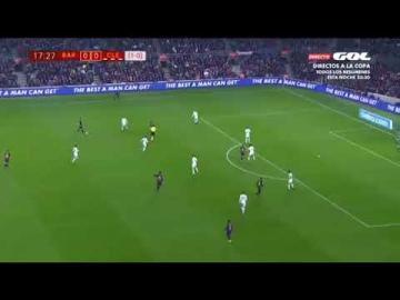 شاهد هدف منير الحدادي في مباراة برشلونة وكولتورال