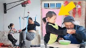 الملاك الصغير - طفلة تعتنى بوالدها المشلول بعد ان هجرته زوجته !!