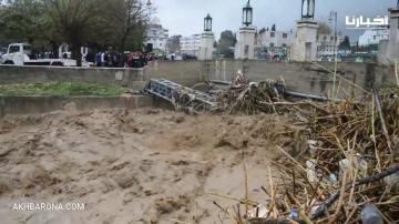 ارتفاع مستوى واد مارتيل يهدد مدخل مدينة تطوان بالغرق والمياه تغمر الكورنيش الجديد
