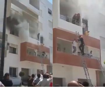 خلاف بين زوجين يتسبب في إندلاع حريق بمجمع سكني بطنجة