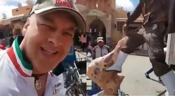 أجنبي يسخر من الطريقة الكارثية لنقل اللحوم في المغرب